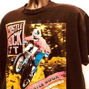 Vintage 90 Streetwear Racing graphic t shirt large